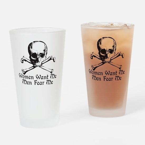 menfear Drinking Glass