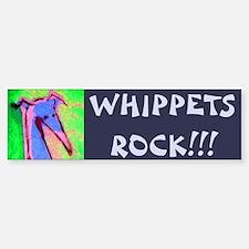 Whippet Bumper Car Car Sticker