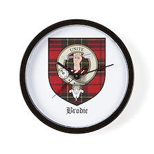 Brodie Clan Crest Tartan Wall Clock
