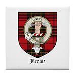 Brodie Clan Crest Tartan Tile Coaster