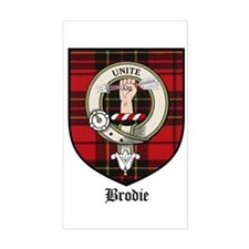 Brodie Clan Crest Tartan Rectangle Decal