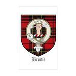 Brodie Clan Crest Tartan Rectangle Sticker