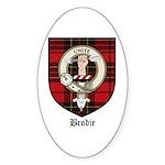 Brodie Clan Crest Tartan Oval Sticker