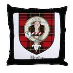 Brodie Clan Crest Tartan Throw Pillow