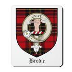 Brodie Clan Crest Tartan Mousepad