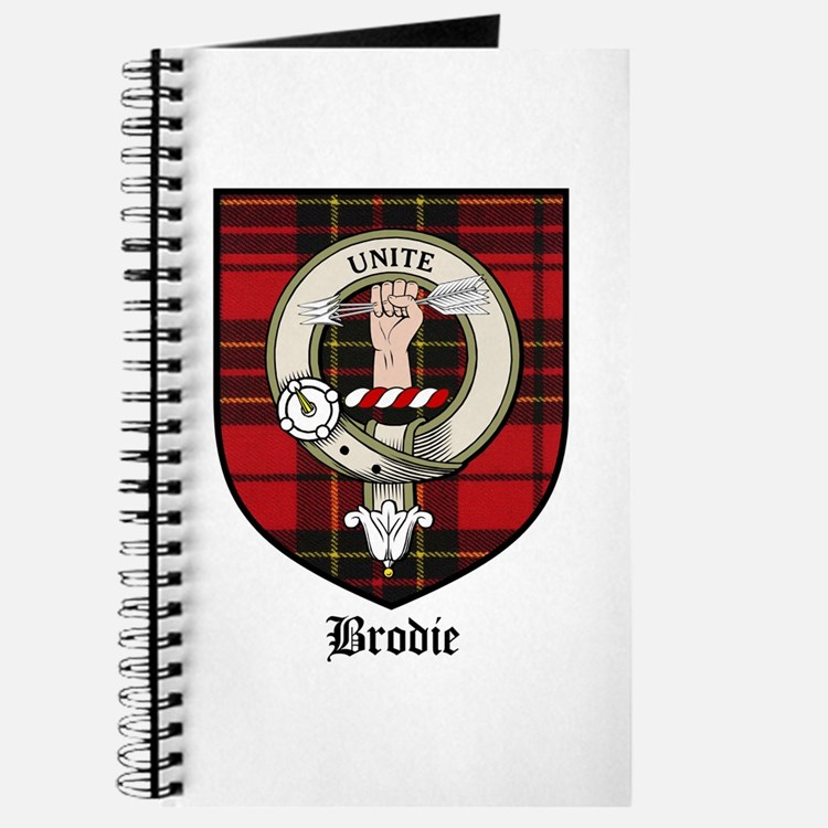 Brodie Clan Crest Tartan Journal
