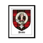 Brodie Clan Crest Tartan Framed Panel Print
