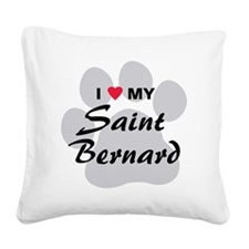 saint-bernard Square Canvas Pillow