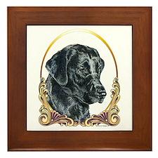 Labrador Retriever Christmas Framed Tile