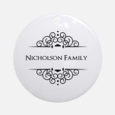 Personalized family name Ornament (Round)
