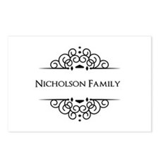 Personalized family name Postcards (Package of 8)