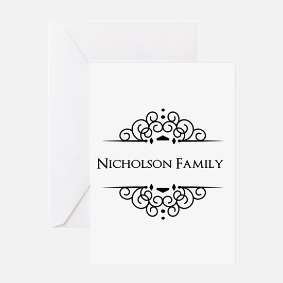 Personalized family name Greeting Cards