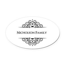 Personalized family name Oval Car Magnet