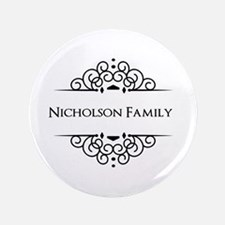 "Personalized family name 3.5"" Button (100 pack)"