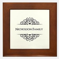 Personalized family name Framed Tile