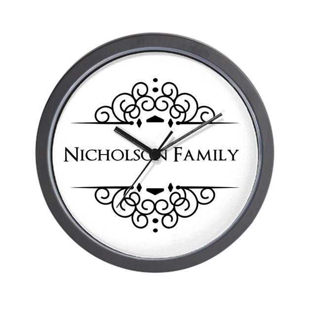 personalized family name wall clock by admin cp49789583