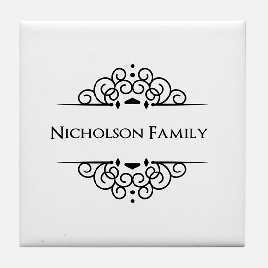 Personalized family name Tile Coaster