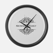 Personalized family name Large Wall Clock