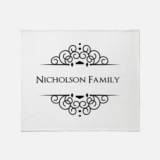 Personalized family name Throw Blanket
