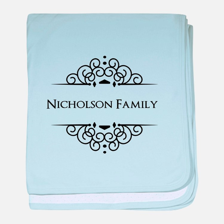 Personalized family name baby blanket