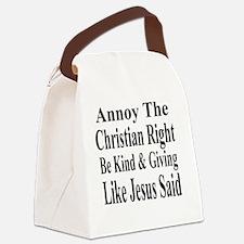 Annoy Christian Right T Shirt bol Canvas Lunch Bag