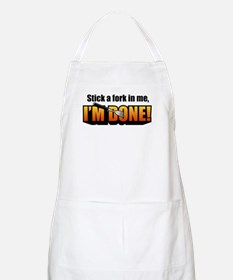 Stick a Fork In Me BBQ Apron