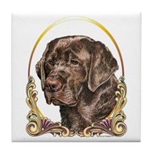 Chocolate Lab Christmas/Holiday Tile Coaster