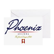 Phoenix Script W Greeting Card