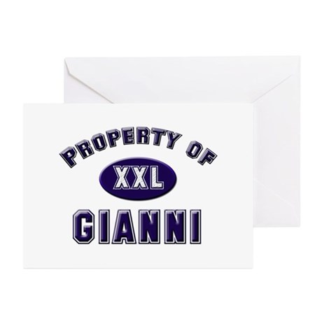 Property of gianni Greeting Cards (Pk of 10)