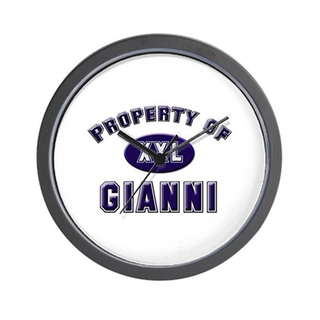 Property of gianni Wall Clock