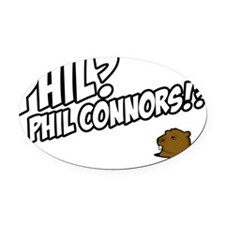 phil-connors Oval Car Magnet