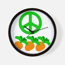 PeaceCarrot copy Wall Clock