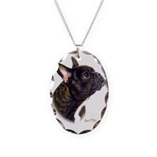 French Bulldog Necklace Oval Charm