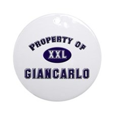 Property of giancarlo Ornament (Round)