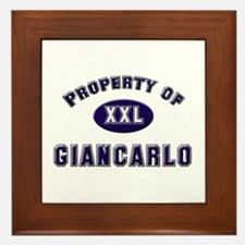Property of giancarlo Framed Tile
