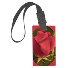RoseFramedRed_5X7 Luggage Tag