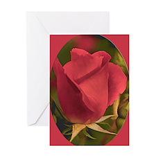 RoseFramedRed_5X7 Greeting Card