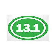 13.1 Green Oval True 3'x5' Area Rug