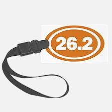 26.2 Burnt Orange Oval True Luggage Tag