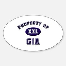 Property of gia Oval Decal