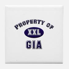 Property of gia Tile Coaster
