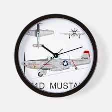 Mustang_BuckeyeBlitz_Front Wall Clock