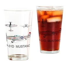 Mustang_BuckeyeBlitz_Front Drinking Glass