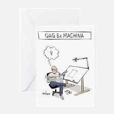 Gag ex Machina Logo Greeting Card