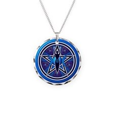 Blue-Purple Goddess Pentacle Necklace