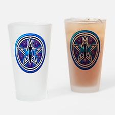 Blue-Purple Goddess Pentacle Drinking Glass