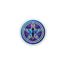 Blue-Purple Goddess Pentacle Mini Button