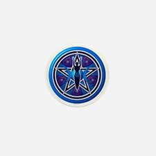 Blue-Purple Goddess Pentacle Mini Button