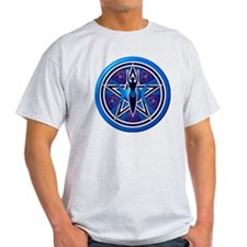 Blue-Purple Goddess Pentacle T-Shirt
