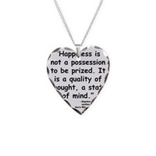 Maurier Happiness quote Necklace